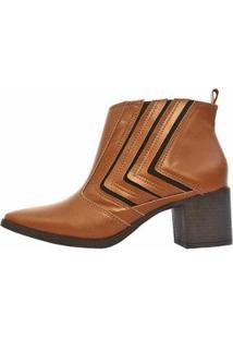 Bota Damannu Shoes Jennifer Feminina - Feminino-Marrom