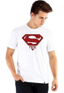 Camiseta Ouroboros Manga Curta Super Pai - Masculino-Branco