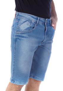 Bermuda 669 Jeans Azul Claro Traymon Modelagem Slim