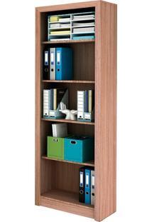 Armário Para Escritório Sem Portas Tecno Mobili - Amêndoa - Multistock