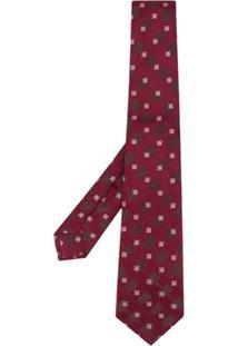 Kiton Gravata Com Estampa - Vermelho