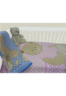 Cobertor Infantil Camesa Microfibra Urso