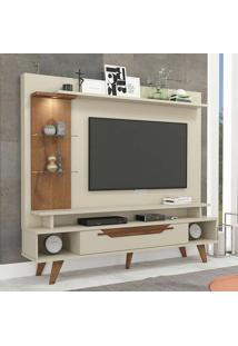 Estante Para Home Theater E Tv 55 Polegadas Londres Off White 180 Cm