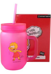 Mini Caneca Lisa Simpson Rosa Zona Criativa