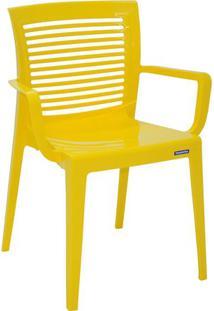 Cadeira Victoria- Amarela- 83X61X54,5Cm- Tramonttramontina