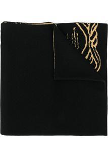 Versace Cachecol De Lã Pop Medusa - Preto