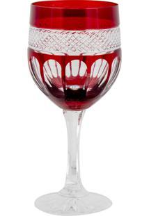 Taça De Cristal Lodz Para Vinho De 240 Ml - Rubi Scarlet