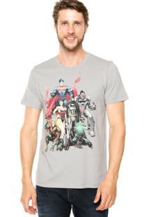 Camiseta Fashion Comics Justice League Cinza