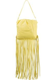 Bottega Veneta Bolsa The Fringe Pouch - Amarelo