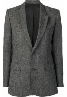 Ami Paris Blazer Oversized Com Abotoamento Duplo E Forro - Preto