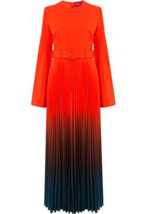 Solace London Vestido Longo Tie-Dye - Vermelho