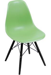 Cadeira Com Base Preta 1102-Or Design - Verde