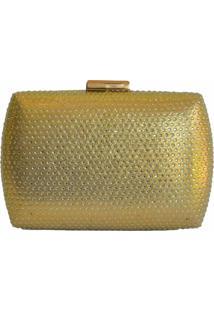 Clutch Lisbella Strass Dourado