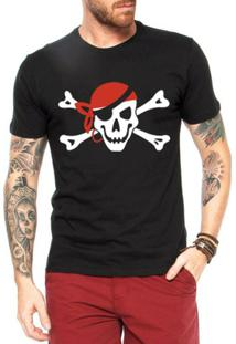 Camiseta Criativa Urbana Caveira Pirata - Masculino