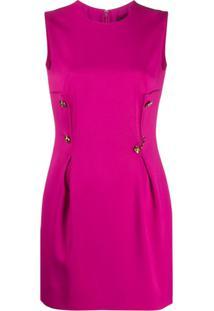 Versace Vestido Com Detalhe De Alfinete - Rosa