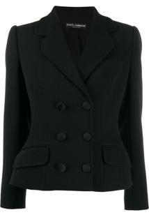 Dolce & Gabbana Double-Breasted Structured Jacket - Preto