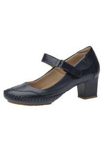 Sapato Feminino Salto Doctor Shoes 789 Marinho