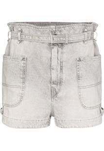 Isabel Marant Short Jeans Cintura Alta - Cinza