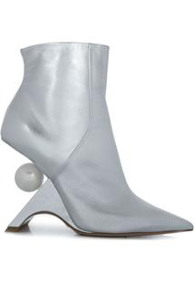 Nicholas Kirkwood Ankle Boot Jazzelle - Prateado