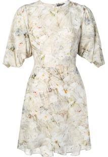 Alexander Mcqueen Vestido Com Estampa Floral - Neutro
