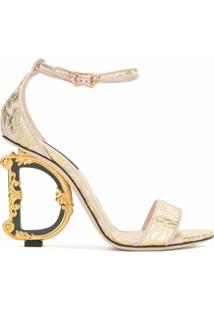 Dolce & Gabbana Sandália D&G Com Salto - Rosa