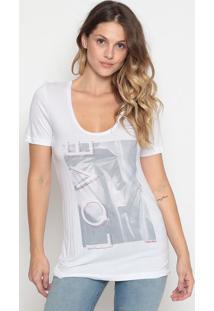 Camiseta Abstrata - Branca & Cinzacalvin Klein