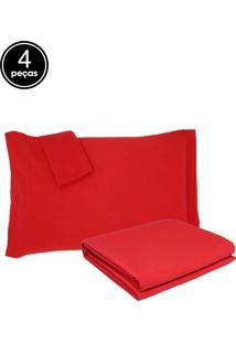 Kit Colcha Casal Becadecor Piquet 3Pã§S Vermelho - Vermelho - Dafiti