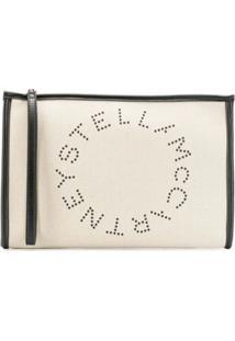 Stella Mccartney Clutch Stella Com Logo - Neutro