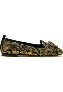 Dolce & Gabbana Slipper Devotion Jacquard - Preto