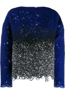 Pierantoniogaspari Two-Tone Jumper - Azul