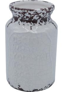 Vaso Kasa Ideia De Cerâmica Branco