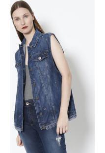 fc2ede32a Colete Jeans feminino