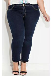 Calça Cropped Plus Size Sawary Jeans