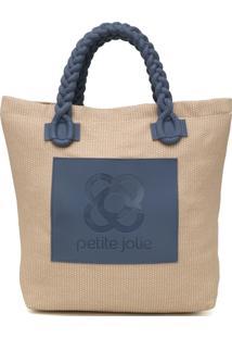 Bolsa Petite Jolie Hit Azul/Bege