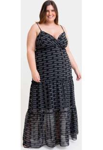 Vestido Longo Almaria Plus Size Tal Qual Três Mari