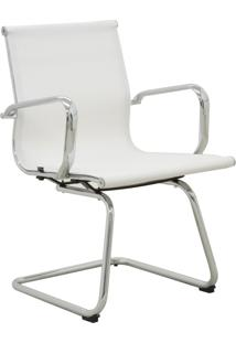 Cadeira Office Sevilha Fixa Tela Branca Rivatti Móveis