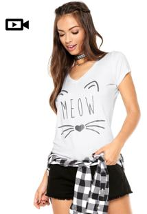 Camiseta Disparate Meow Branca