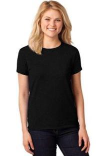 Camiseta Partiucompras Lisa Algodão Básica Feminina - Feminino