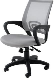 Cadeira Secretaria Santiago Cinza C/Rodizio Em Nylon - 27027