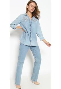 Camisa Jeans - Azulscalon