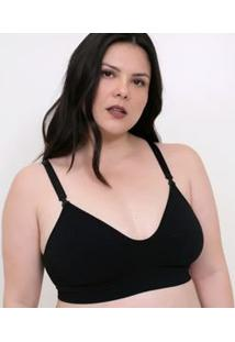 Sutiã Sem Bojo Com Tecido Duplo Curve & Plus Size