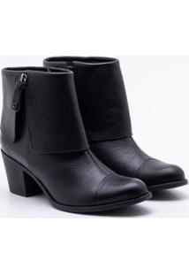 Ankle Boot Comfy Couro Preta Dumond 34