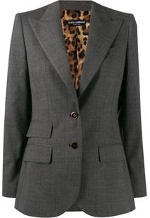 Dolce & Gabbana Blazer De Oncinha - Cinza