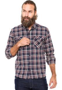 Camisa Polo Wear Xadrez Vinho/Azul