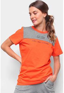 Camiseta Colcci Corpo E Mente Feminina - Feminino-Laranja