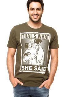 Camiseta Fashion Comics Mutley Verde