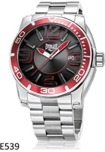 f99e9c888c4 ... Relógio De Pulso Everlast Esportivo Com Pulseira Em Aço E539 - Masculino -Prata+Vinho