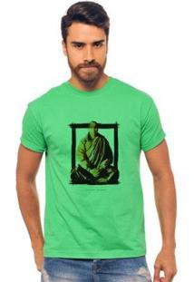 Camiseta Masculina Joss Quadro Meditação - Masculino-Verde