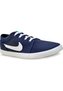 Tenis Masc Nike 654989-402 Mens Futslide Shoe Marinho/Branco