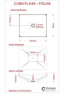 Conjunto Para Banheiro Gabinete Com Cuba F44 E Prateleira 605W Metrópole Compace Branco Chess